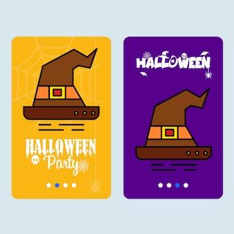 Happy halloween invitation design with hat vector