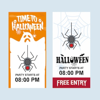 Happy halloween invitation design