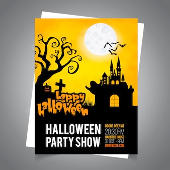 Happy halloween invitation and poster for party