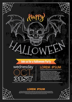 Happy halloween invitation template.