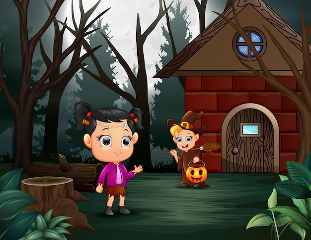 Happy halloween kid on the home page