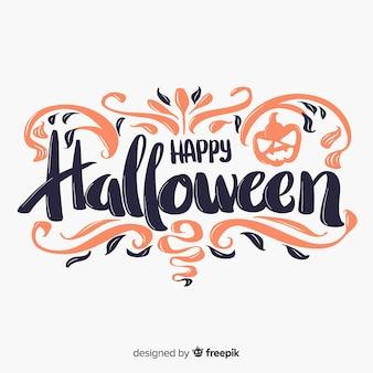 Happy halloween lettering background