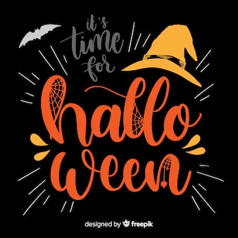 Happy halloween lettering background