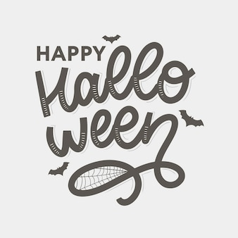 Happy halloween  lettering calligraphy