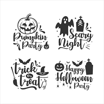 Happy halloween lettering   collection