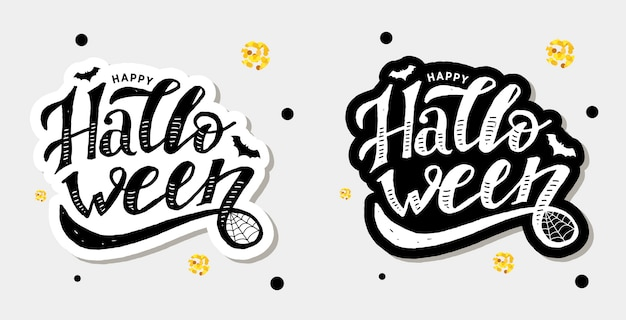 Happy halloween lettering sticker