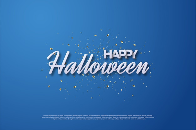 Happy halloween lettering with simple handwriting.