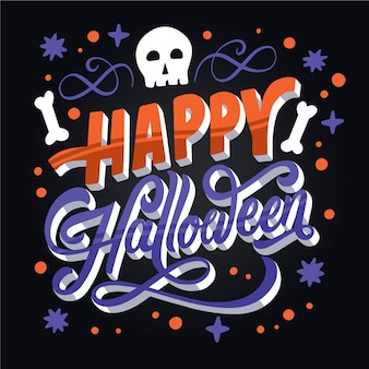 Happy halloween - lettering