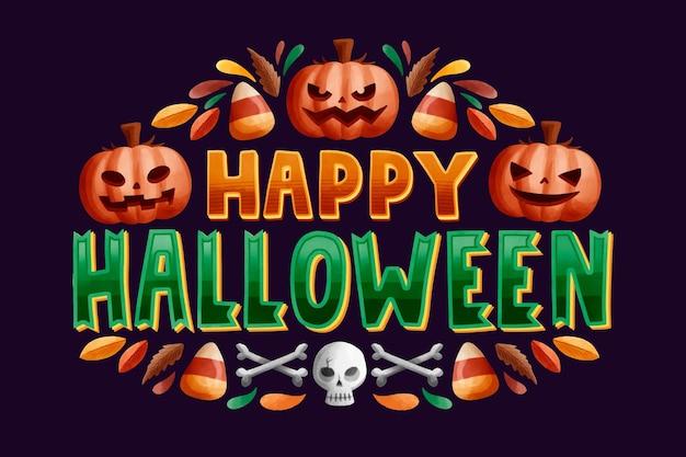 Happy halloween надписи