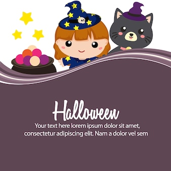 Happy halloween lovable witch