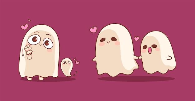 Happy halloween of lovely ghost spirit