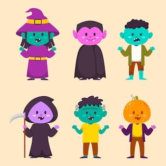 Счастливый персонаж-монстр хэллоуина для романа и рассказа