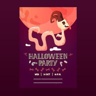 Happy halloween monster poster flyer invitation