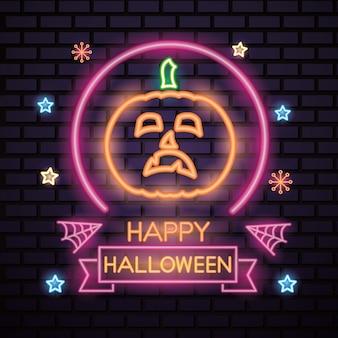 Happy halloween neon sign