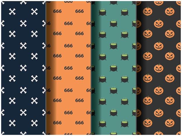 Happy halloween party background wallpaper icon october template cartoon pattern pumpkin vector