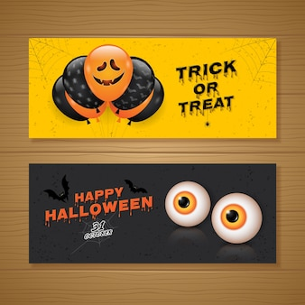 Happy halloween party banner template