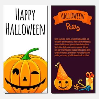 Happy halloween party invitation template