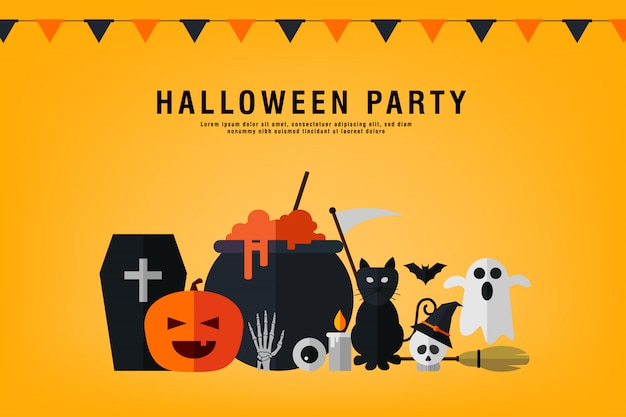 Happy halloween party template