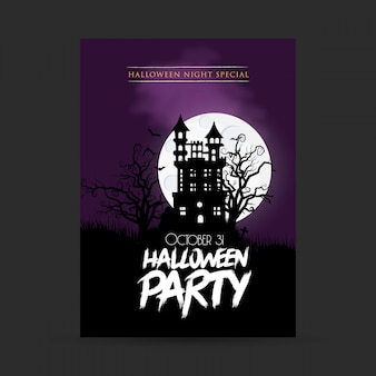 Happy halloween party typography design vector