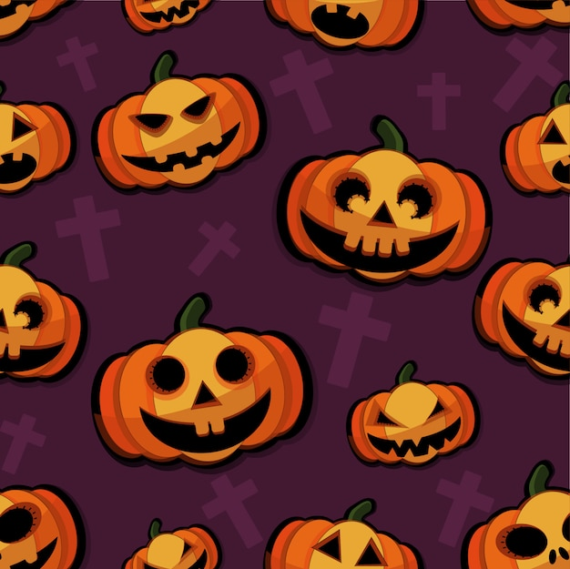 Happy halloween pattern background