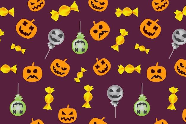 Happy halloween pattern funny hand drawn