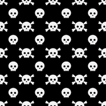 Happy halloween pattern skull and bone. halloween design template for greeting card, ad, promotion, poster, flier, blog, article, social media, marketing.