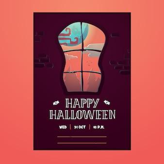 Happy halloween poster flyer invitation