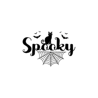 Happy halloween poster, greeting card, party invitation. vector illustration.