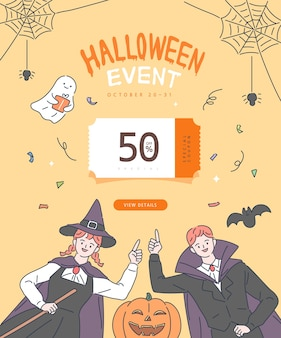 Счастливый плакат хэллоуина.
