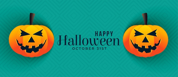 Happy halloween pumpkin banners design