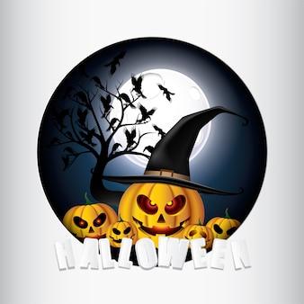 Happy Halloween Pumpkin Monster.