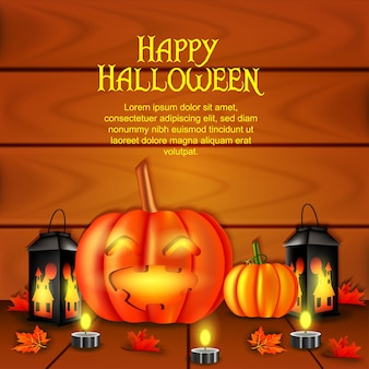 Happy halloween realistic 3d