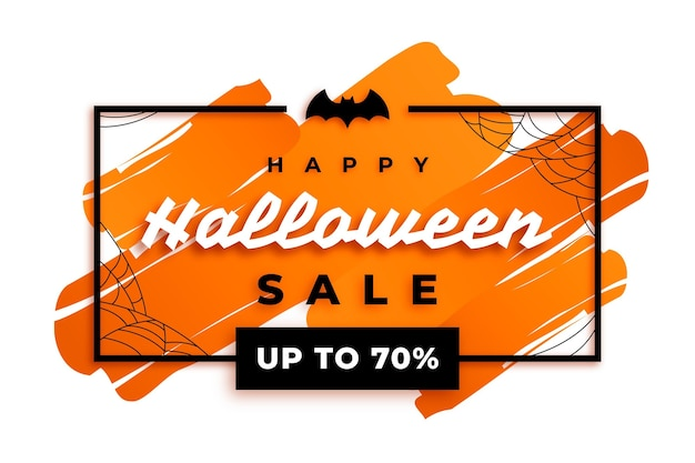 Happy halloween sale concept
