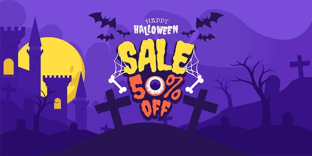 Happy halloween sale night