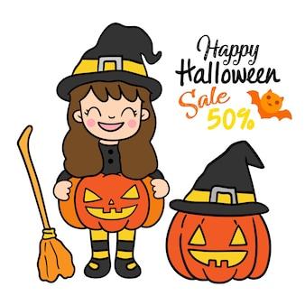 Happy halloween sale vector.
