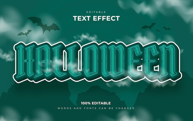 Happy halloween and scary editable text effect style