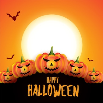 Happy halloween scary spooky card design background