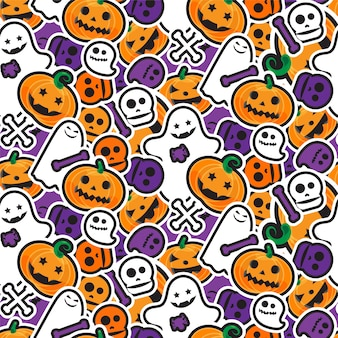 Happy halloween seamless pattern. scary and horror background