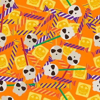 Happy halloween seamless pattern for wrapping paper textile fabric t shirt print wallpaper