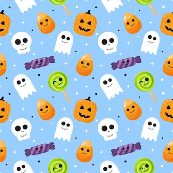Happy halloween seamless pattern
