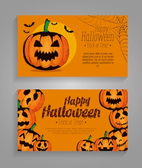 Happy halloween set set di carte
