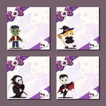 Happy halloween square banner