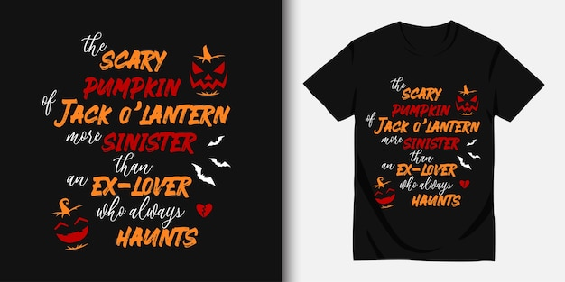 Happy halloween and t-shirt design