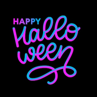 Happy halloween text banner,  lettering calligraphy 3d