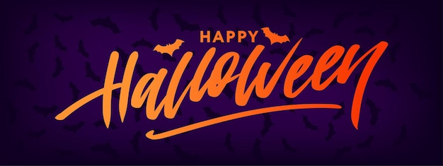 Happy halloween text banner lettering holiday special offer купить сейчас