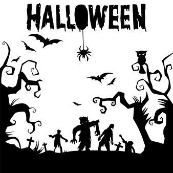 Счастливый хэллоуин текстовый баннер, вектор