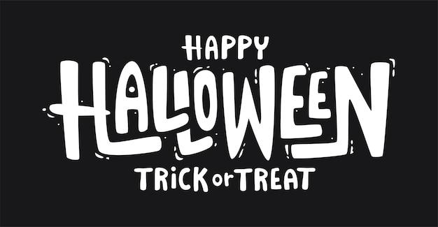 Happy halloween text banner.
