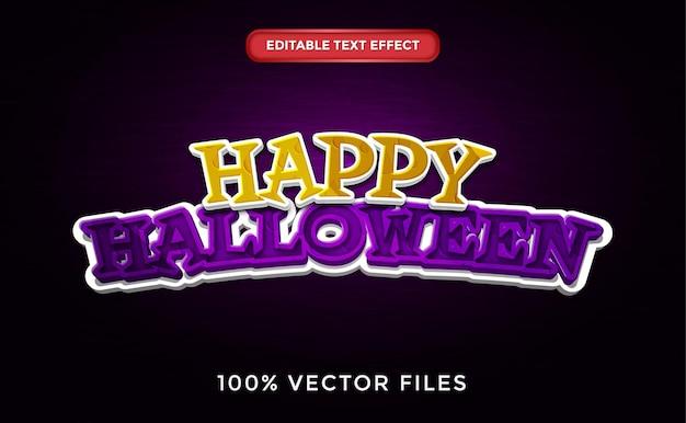 Happy halloween text effect premium vector