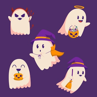 Happy halloween trick or treat element party for invitation