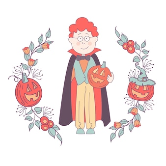 Happy halloween vector illustration the invitation to the party